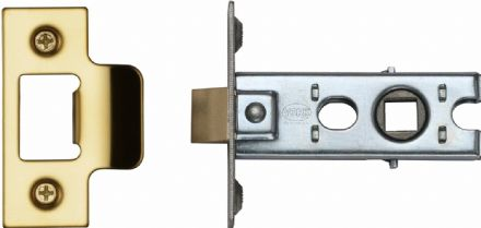 M Marcus York Security YKTL2-PB Mortice Latch 64mm Polished Brass